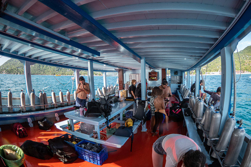 Dive boats of Ban's Diving Koh Tao